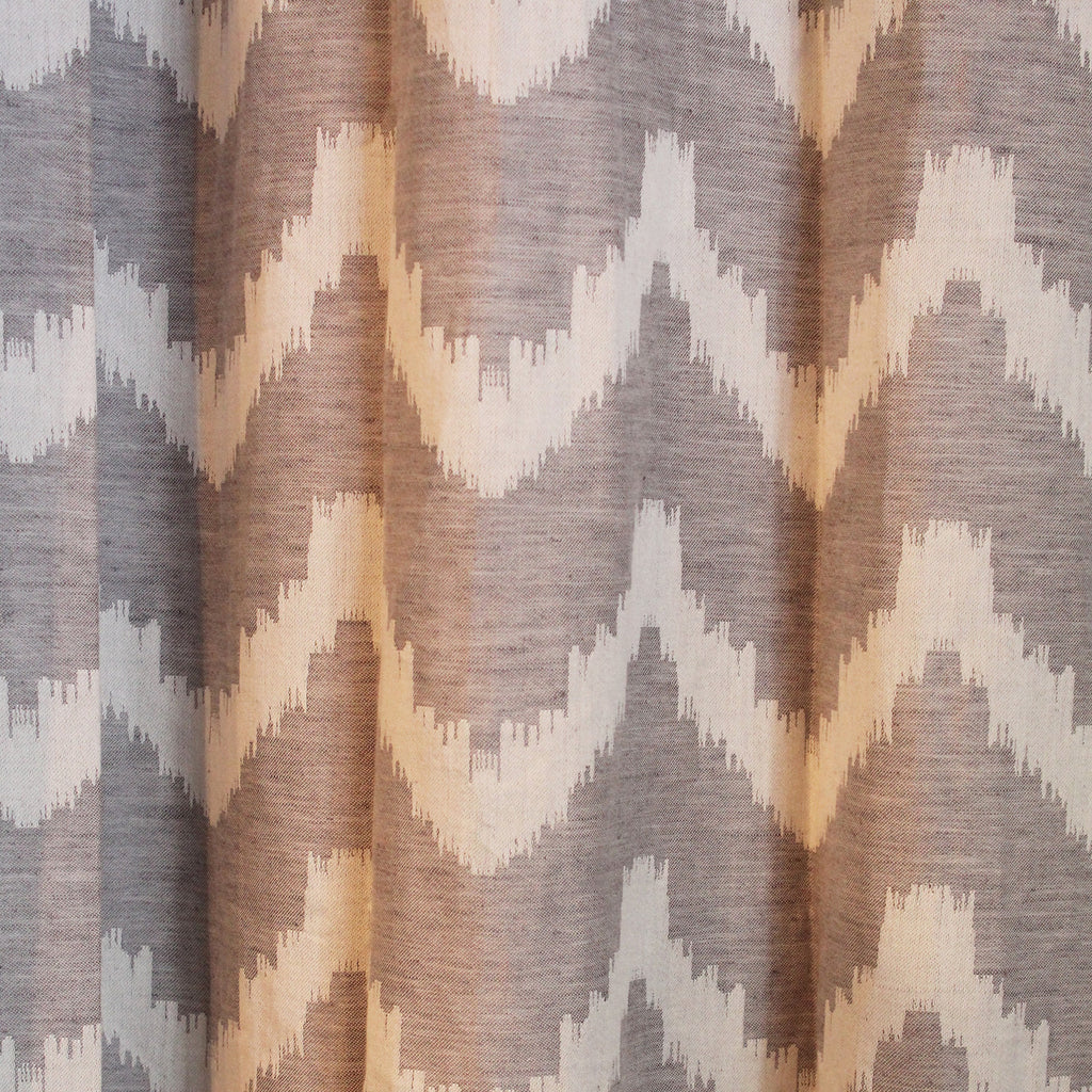Chevron Grey Drapery Panel