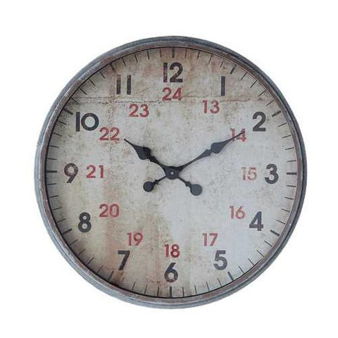 Large Metal Wall Clock
