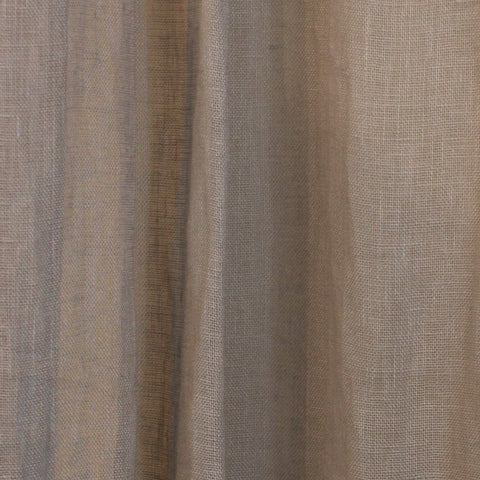 Asphalt Grey Linen Drapery Panel
