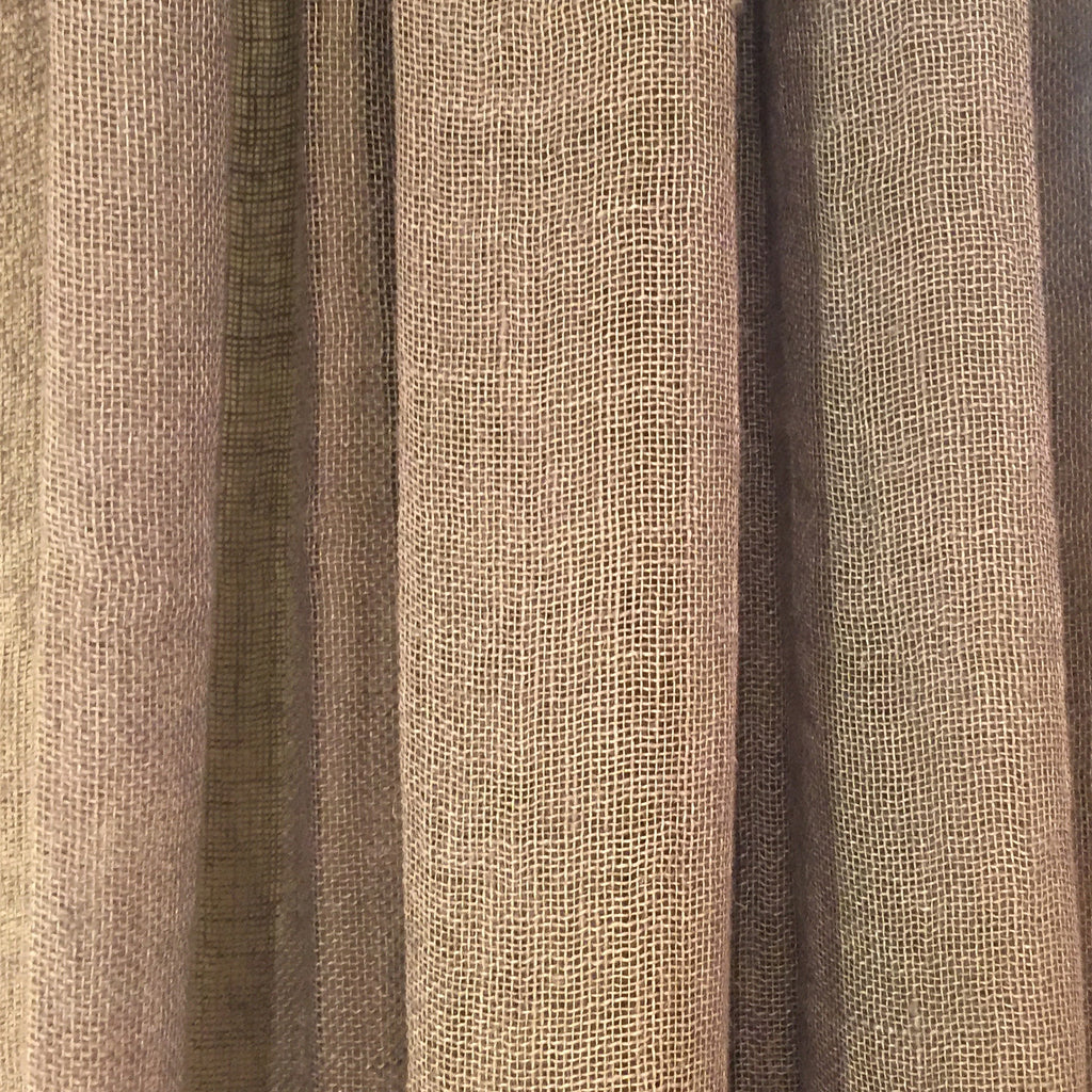 Striped Linen Sheer Drapery Panel