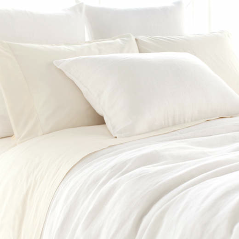 Stone Washed Linen Bedding Collection - White