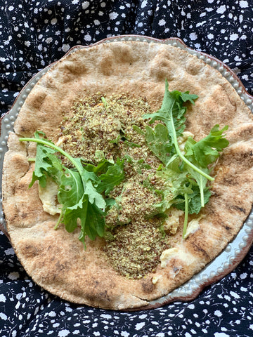 Veggie wrap with seed cycling seeds