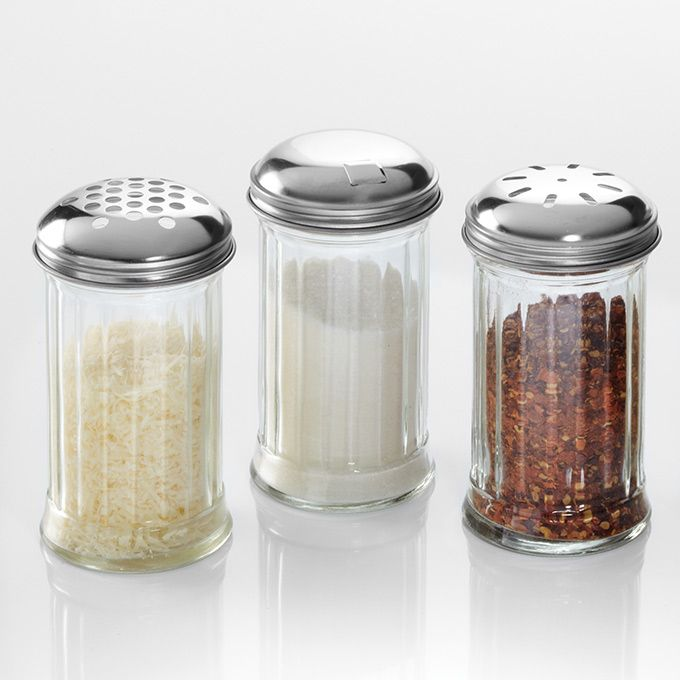 American Metalcraft (GLA312) 12 oz Glass Cheese Shaker w/Lid
