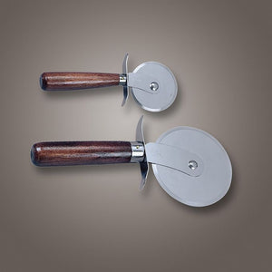 American Metalcraft (PC7400) 4 Wood Handle Pizza Cutter