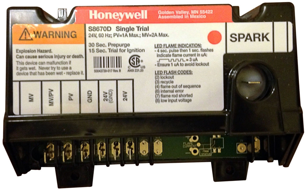 HoneyWell Ignition Control Module Box for Lincoln 370396 369393