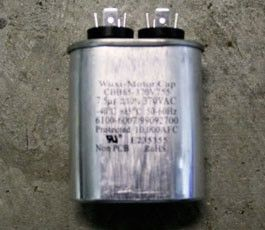 Motor Start & Run Capacitor 7.5 MFD, 370 VAC - Lincoln Part # 369192
