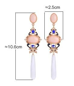 Pearl and Crystal Drop Earring Luxoba