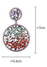 Load image into Gallery viewer, Multicolored Crystal Drop Earring - Luxoba