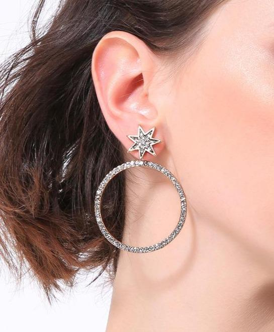 Stud Hoop Earring ( 2 in 1) Luxoba