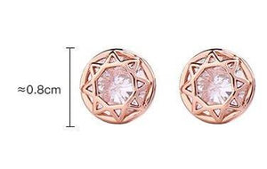 Geometric Encrusted Diamond Stud Earring - Luxoba