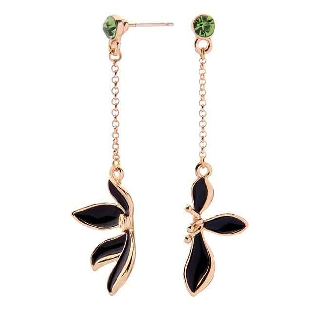 Divided Lily Earring Luxoba Black
