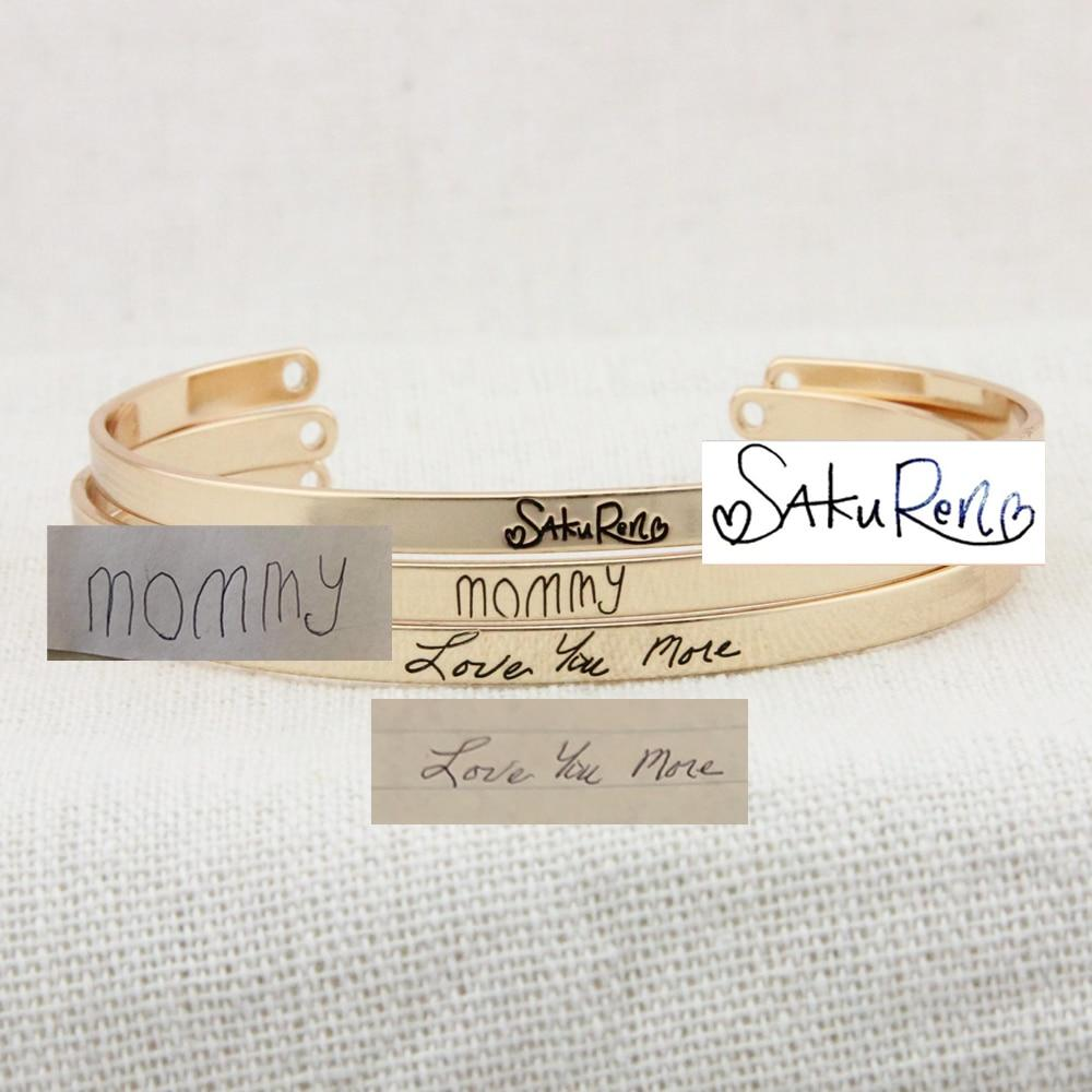 Customized Handwritten Bangle Luxoba