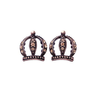 Crown Earring Luxoba Antique Gold