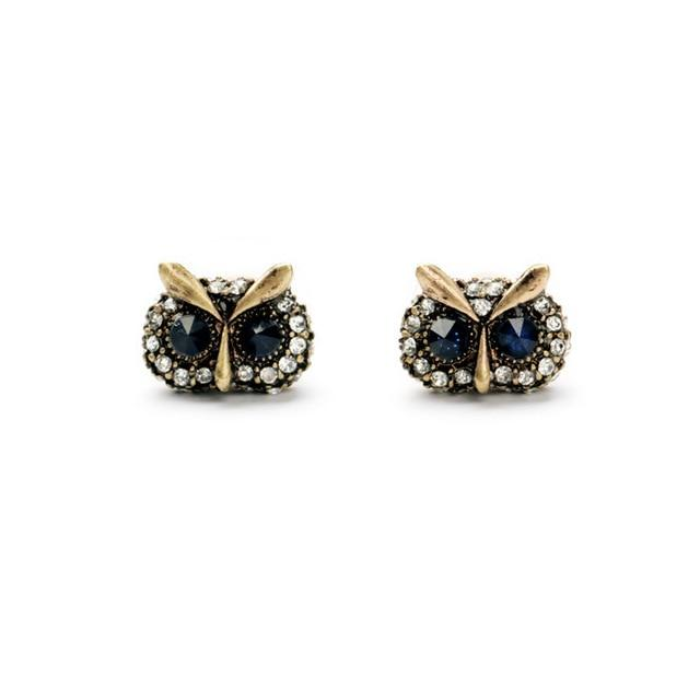 Owl Eyes Stud Earrings Luxoba