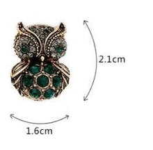 Load image into Gallery viewer, Vintage Style Owl Stud Earring - Luxoba