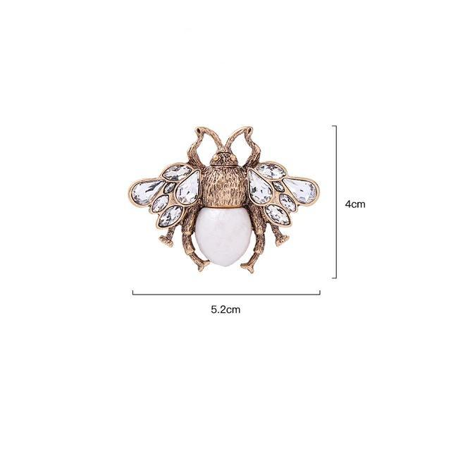 Bug Brooch Luxoba White