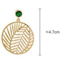 Load image into Gallery viewer, Leaf Motif Filigree Round Earrings - Luxoba