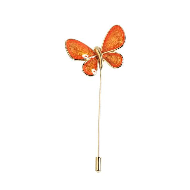 Butterfly Pin Brooch Luxoba Orange