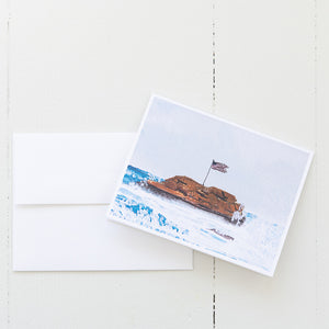 Bar Rock Watercolor Note Card (Single Card with Envelope)