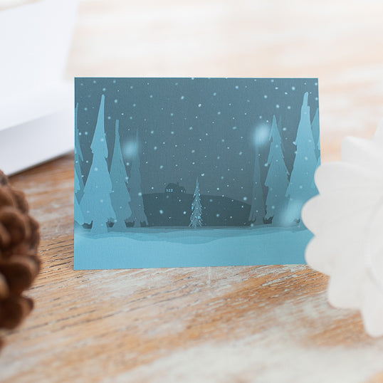 Winter Landscape Note Card (Single Card) with Envelope