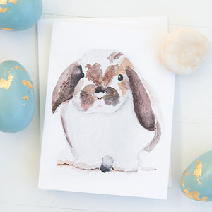 Flop Eared Bunny Watercolor Note Cards (set of 8)