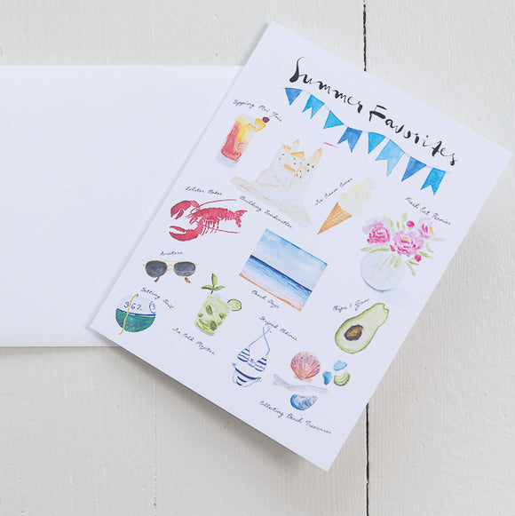 Summer Favorites Note Card (single card with envelope)