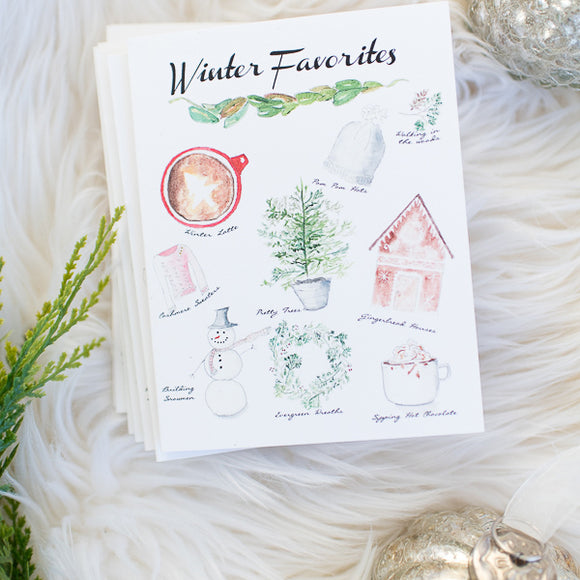 Winter Favorites Note Card Set (Box of 8)