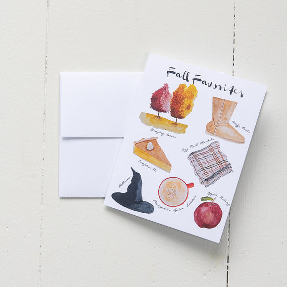Fall Favorites Note Card (single card with envelope)