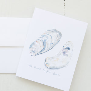 The World Is Your Oyster Watercolor Note Card (single card)