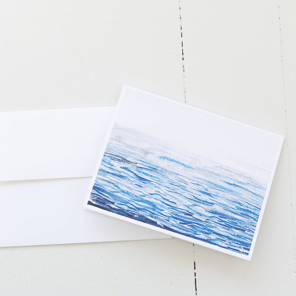 Watercolor Waves (Set of 8 Cards)
