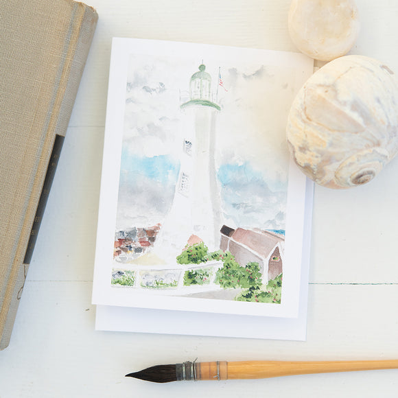 Scituate Lighthouse Watercolor Note Cards (set of 8)