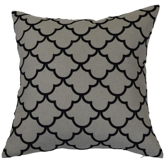 Pattern charcoal cushion cover