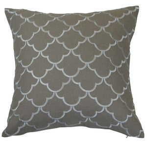 linen and ivory cushion cover