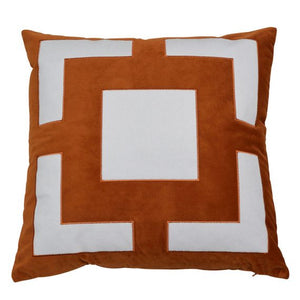 rust velvet Square Cushion Cover