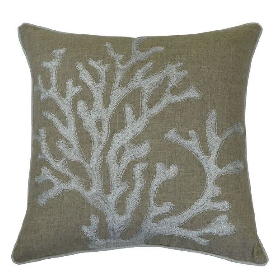 ivory coral cushion cover