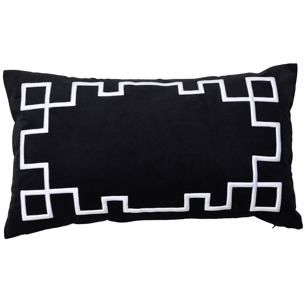 palm springs black rectangle cushion cover