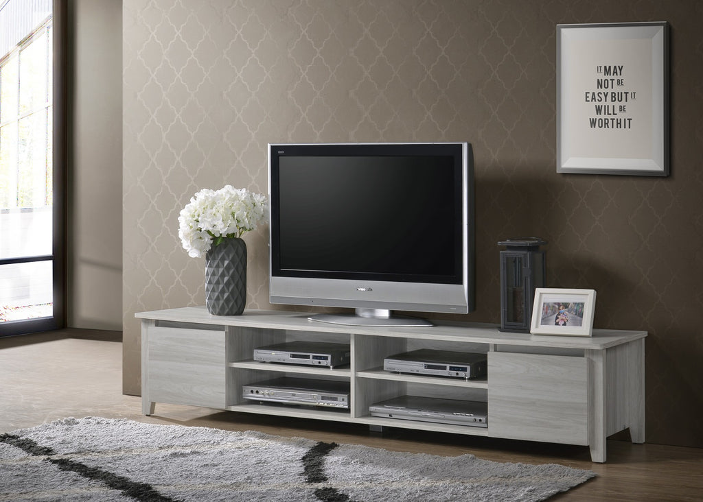 TV Stand Entertainment Unit 180cm In White Oak