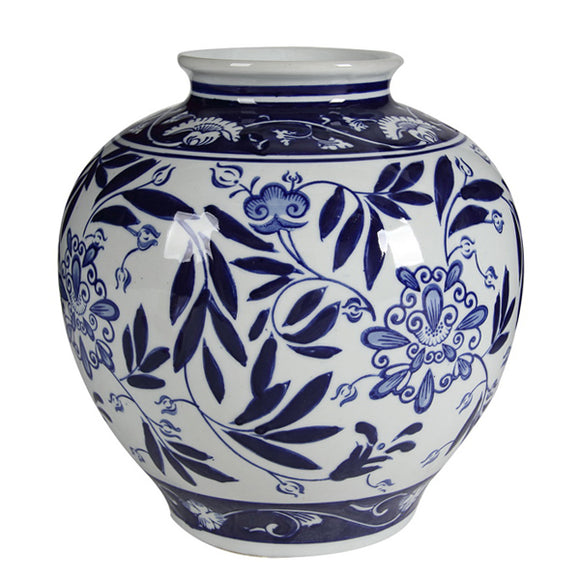 blue and white Posey Vase