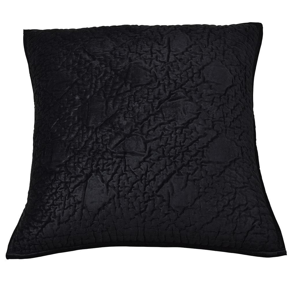 Oasis black cushion cover