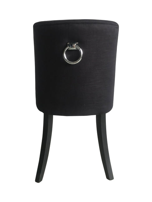 Cordelia Dining Chair Black  Chrome Ring