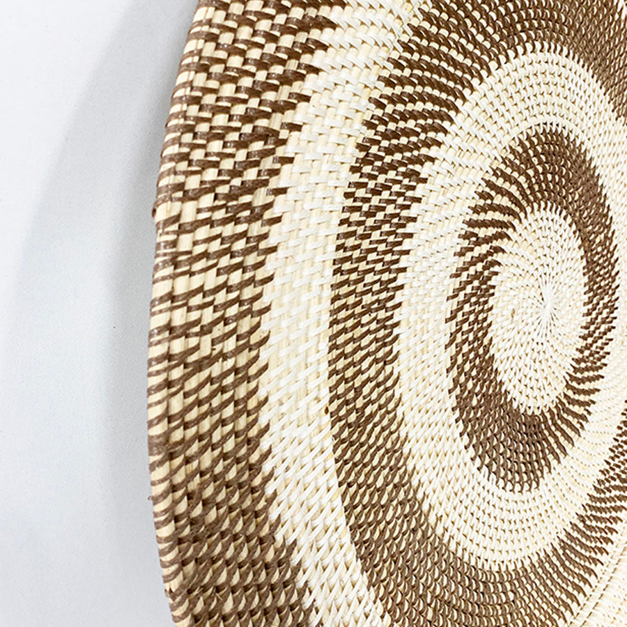 HANDWOVEN CIRCLES TRAY/WALLART 70X4CM