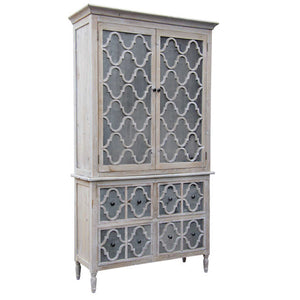 Trellis Armoire natural reclaimed timber