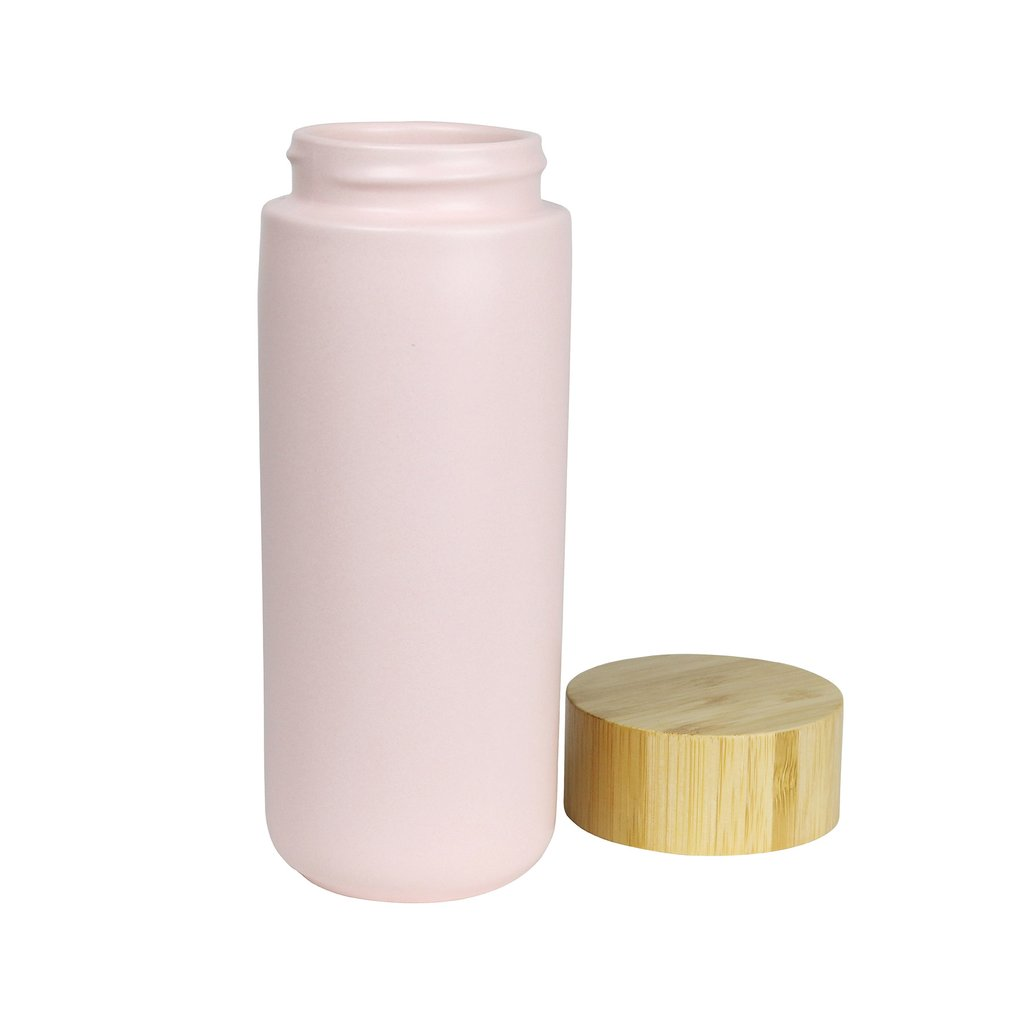 matte pink drink bottle