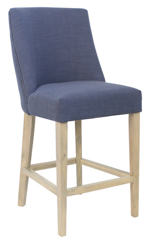 Ophelia Barstool Navy Blue with silver ring