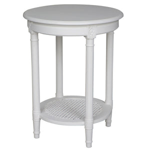 Occasional Round Table White 50X50X65cmh