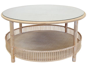 Rattan Coffee Table - Natural Wash