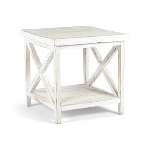 Farmhouse Cross-Hatch Side Table