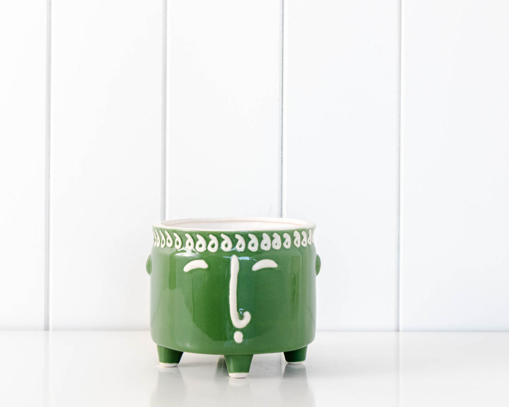 olive green planter