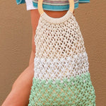 straw rope hand bag