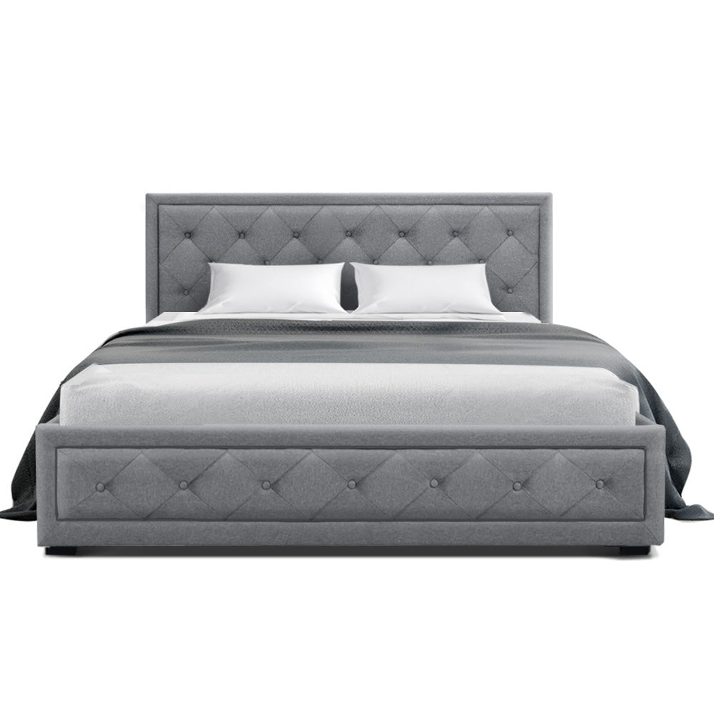 Tiyo Bed Frame - Double Grey